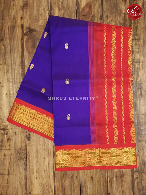 Blue & Red - Silk Cotton