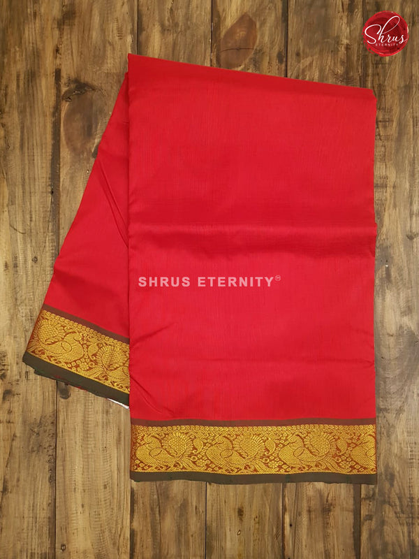 Blue & Red -Silk Cotton (Madisar) - Shop on ShrusEternity.com