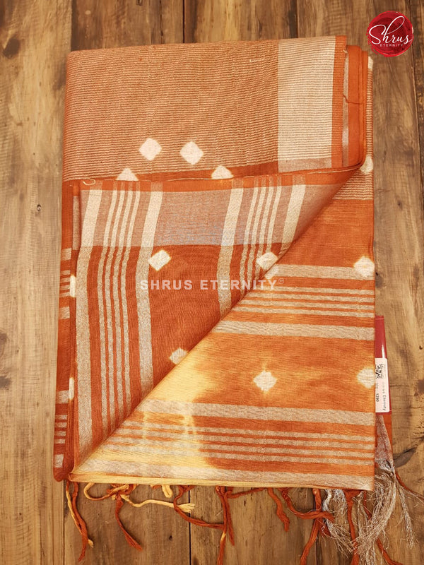 Peach & Brown - Shibori