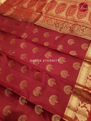 Maroon (Single Tone)- kanchipuram Silk