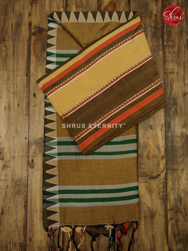 Olive Green & Multi color - Bengal Cotton - Shop on ShrusEternity.com