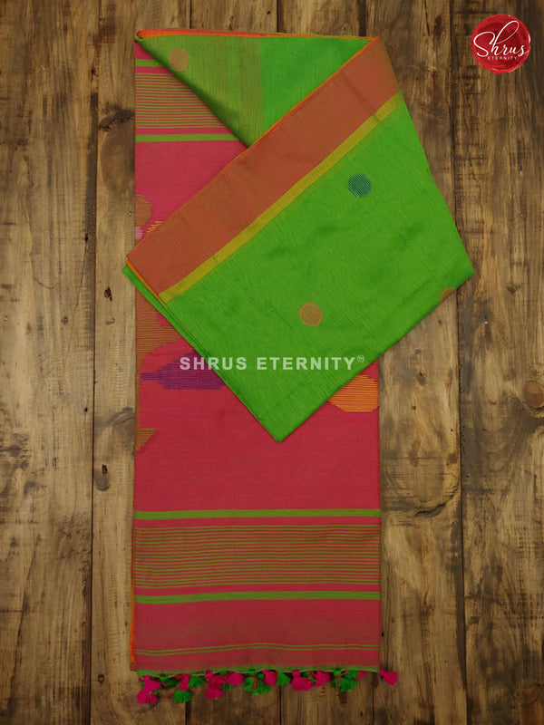 Green & Pink - Bengal Cotton - Shop on ShrusEternity.com
