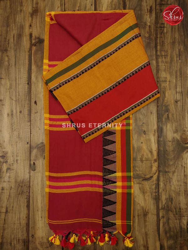 Red & Yellow - Bengal Cotton - Shop on ShrusEternity.com