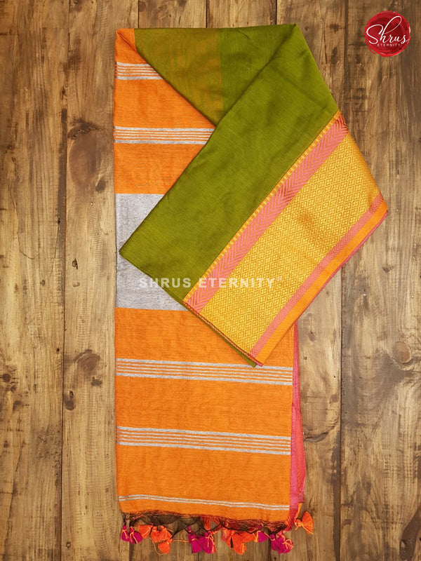 Green & Orange - Bengal Cotton