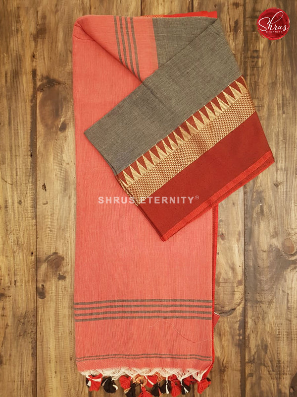 Grey & Red - Bengal Cotton