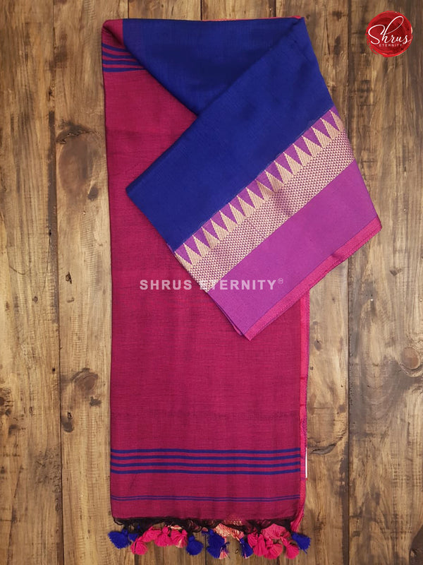 Blue & Maroon - Bengal Cotton