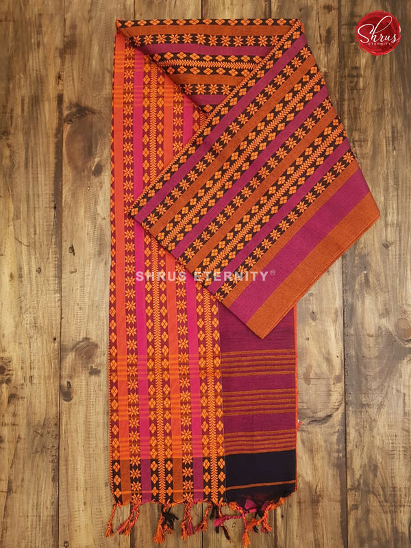 Black & Majenta - Bengal Cotton
