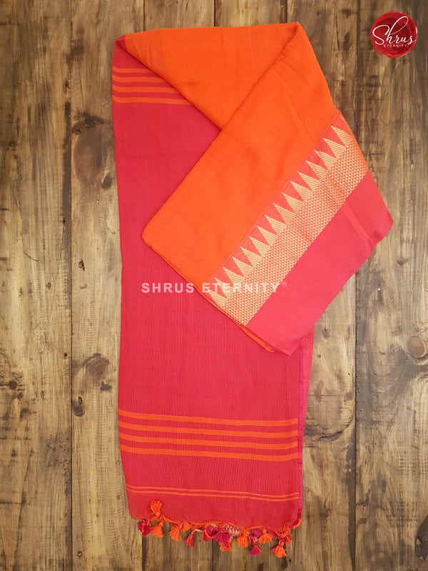 Orange & Pink - Bengal Cotton