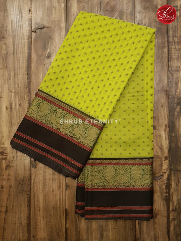 Lime Green & Black - Silk Cotton