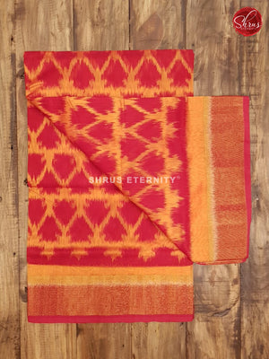 Orange & Red - Pochampally Silk Cotton - Shop on ShrusEternity.com