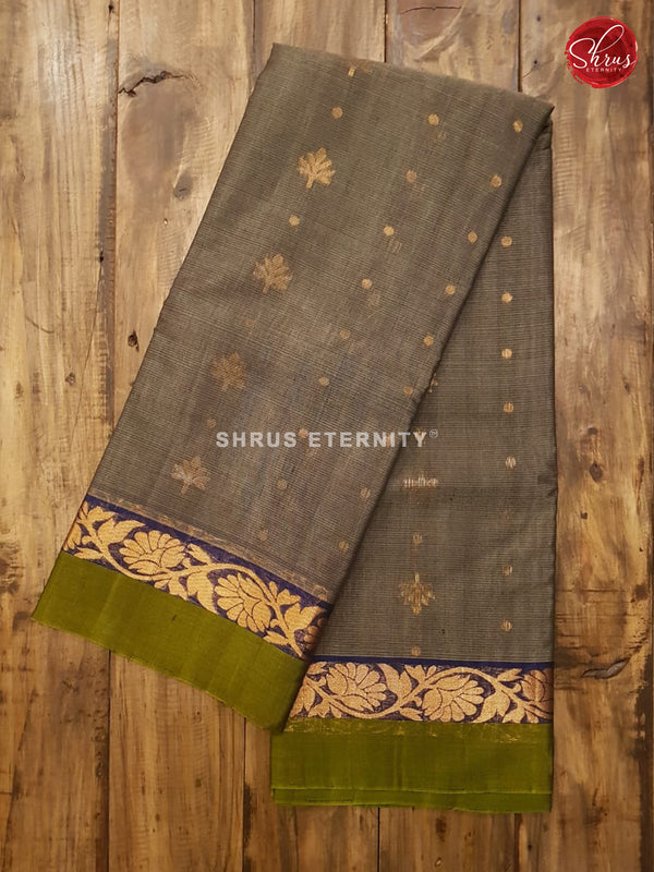 Grey & Green - Silk Cotton