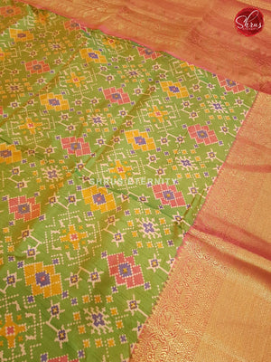 Light Green & Orange - Semi Patola - Shop on ShrusEternity.com
