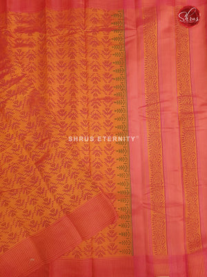 Mango Yellow & Orange - Cotton Silk