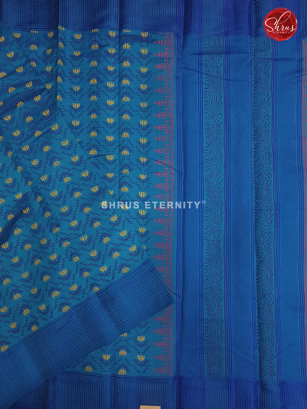 Light Blue & Dark Blue - Cotton Silk