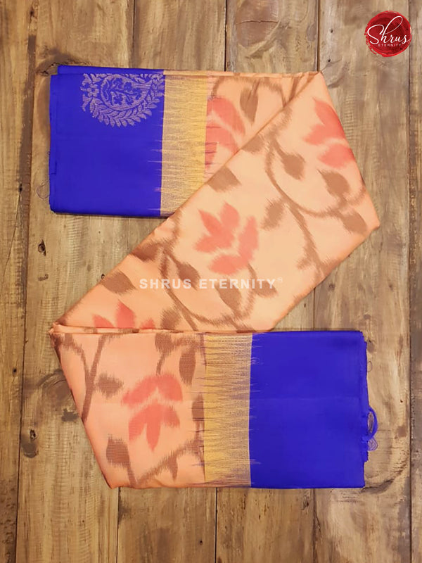Peach & Blue - Soft Silk