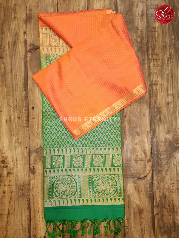 Orange & Green  - Soft Silk
