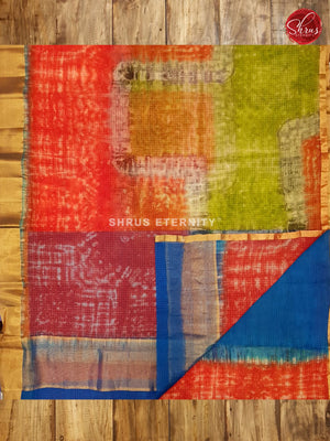 Multicolor & Blue - Kota Shibori - Shop on ShrusEternity.com