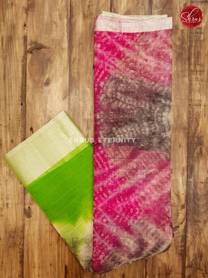 Pink & Light Green - Kota Shibori - Shop on ShrusEternity.com
