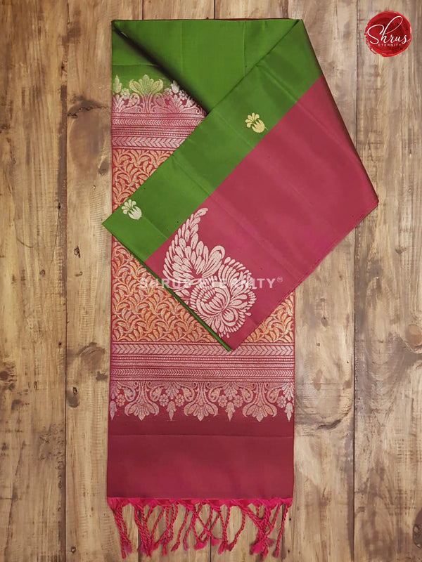 Green & Maroon - Soft Silk