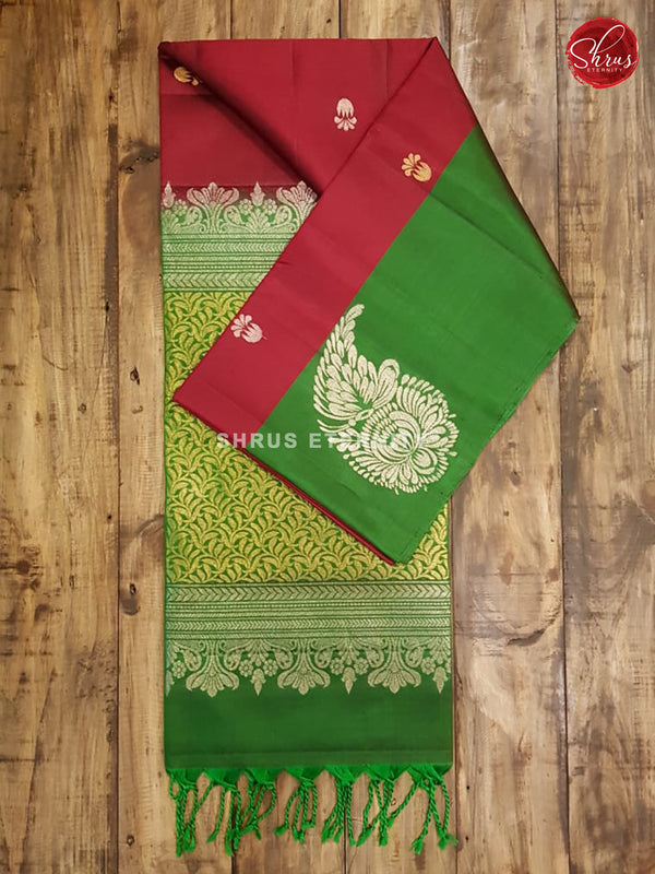 Maroon & Green - Soft Silk