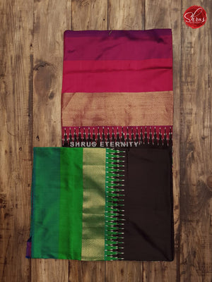 Black & Purple (Ganga Jamuna) - Ikkat Silk
