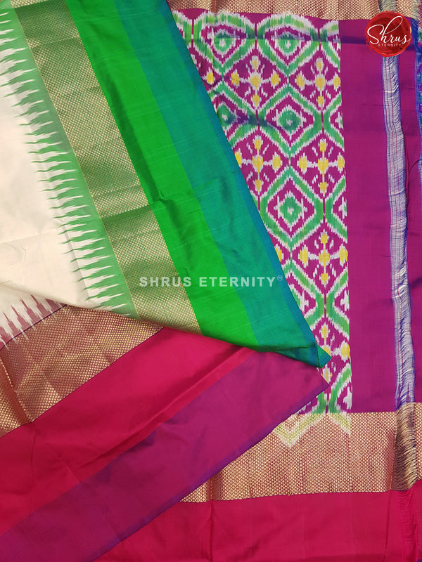 Cream Ganga Jamuna - Ikkat Silk - Shop on ShrusEternity.com