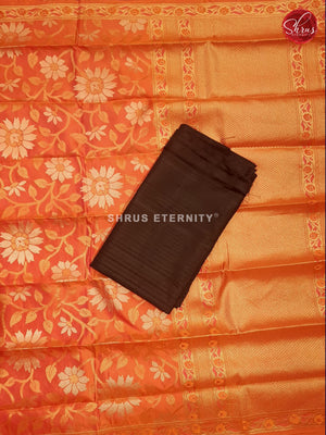 Black & Orange - Silk Suit