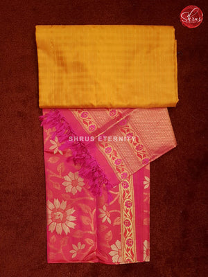 Yellow & Pink - Silk Suit