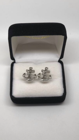 Unisex Silver Anchor Cufflink for Well Dressed People