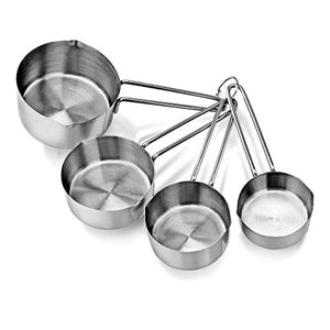 Metallic Measuring Spoons & Measuring Cup Set