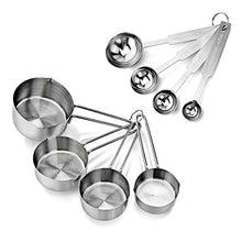 Load image into Gallery viewer, Metallic Measuring Spoons & Measuring Cup Set