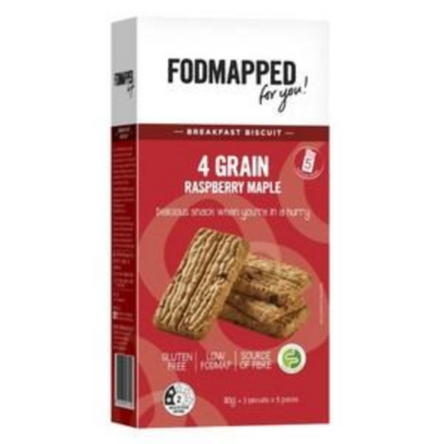 FODMAPPED 4 Grain Raspberry Maple Breakfast Biscuit (110g)