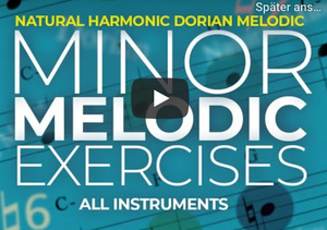 Exercises on Natural, Dorian, Melodic and Harmonic minors - all instruments
