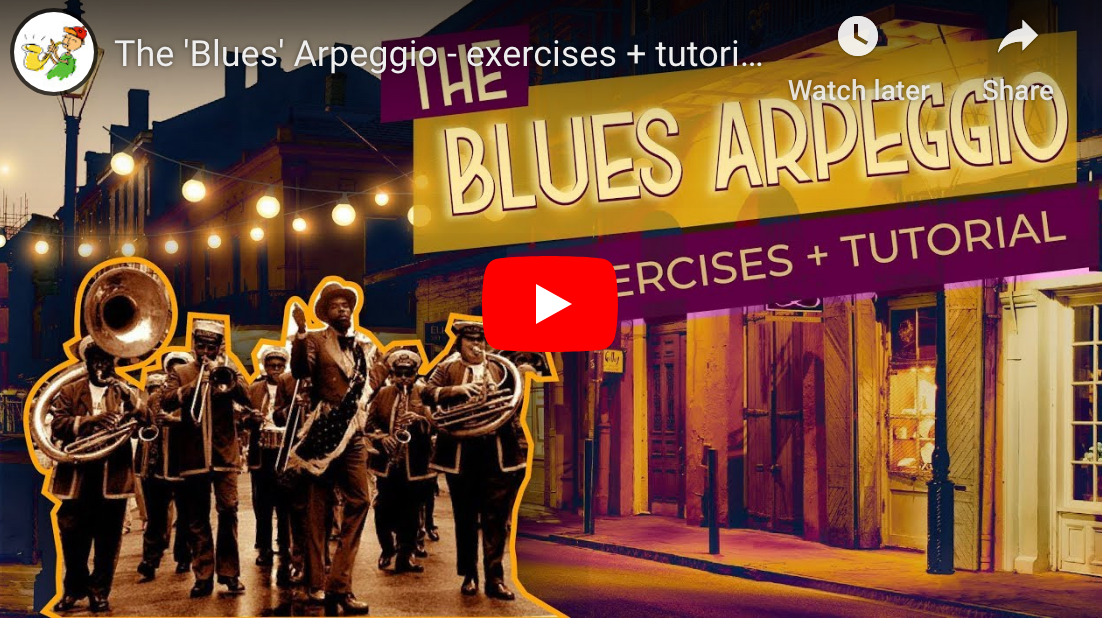 The 'Blues' Arpeggio - exercises + tutorial