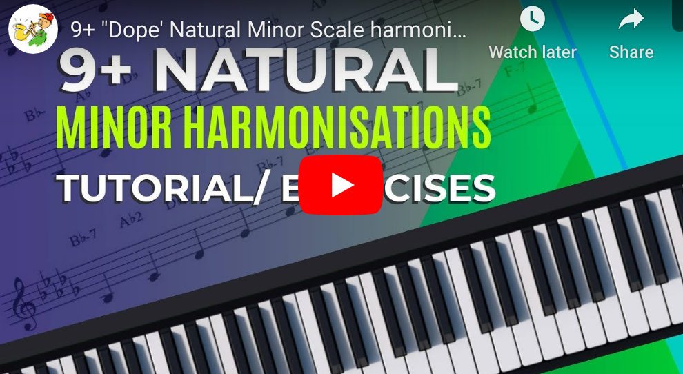 "9+ ""Dope' Natural Minor Scale harmonisations tutorial"