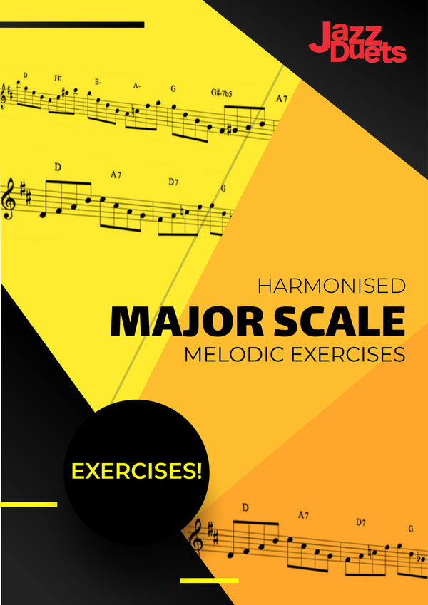 Harmonised Major Scale Melodic Exercises PDF download-All Instruments