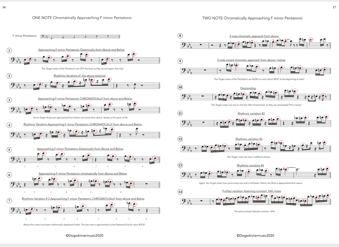Approaching Pentatonic scales chromatically Digital Download