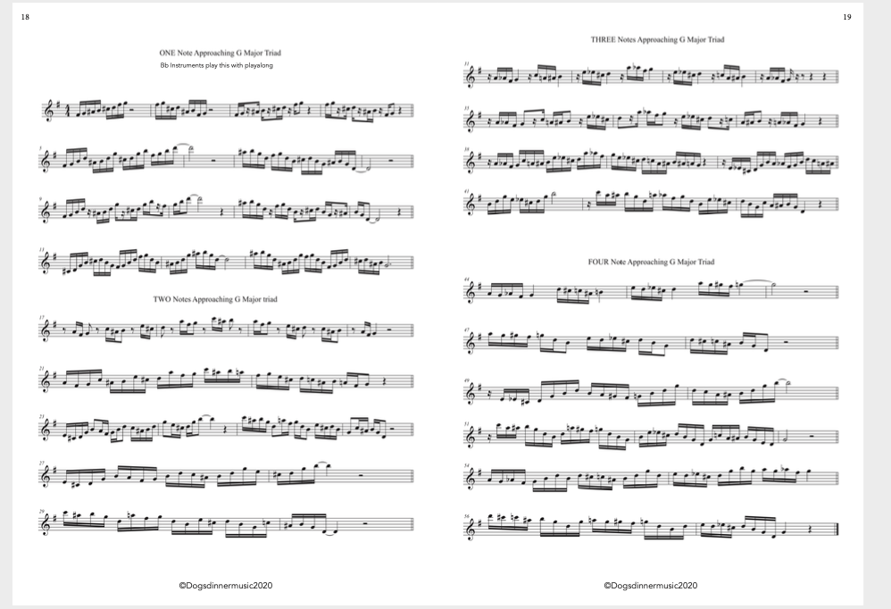How to write a chromatic approach note tune- download