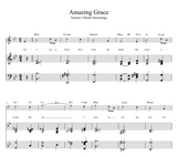 Amazing Grace 6 harmonisations booklet  + Midi  files