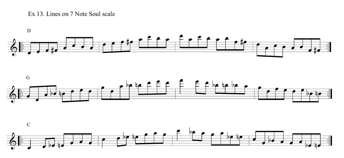 Soul scale examples- Jazz duets