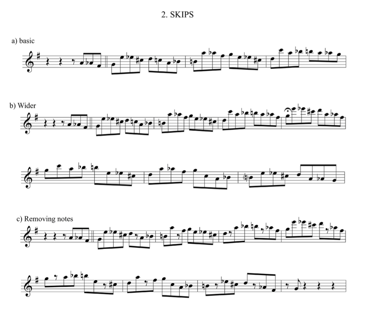 3 note Approach Notes exercises- Jazzduets