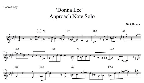 Approach notes solo - Donna Lee