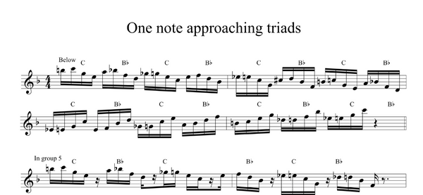 Approaching Triad Pairs - 1 note