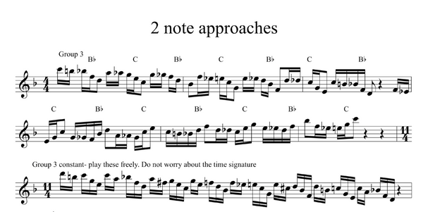 Approaching Triad Pairs - 2 notes