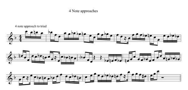 Approaching Triad Pairs - 4 notes