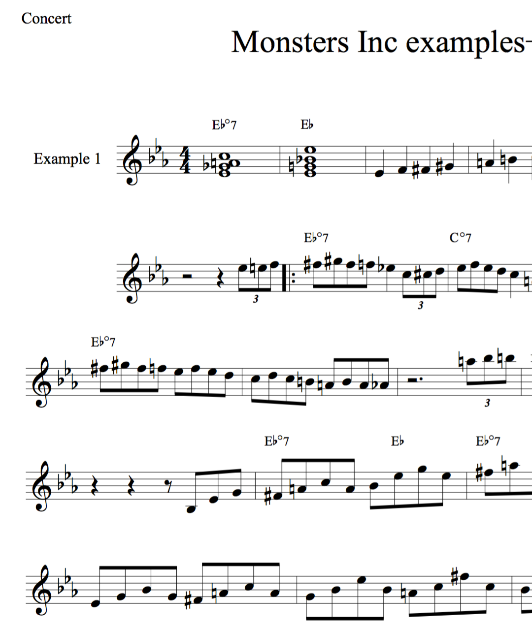 Monsters In exercises-jazz duets