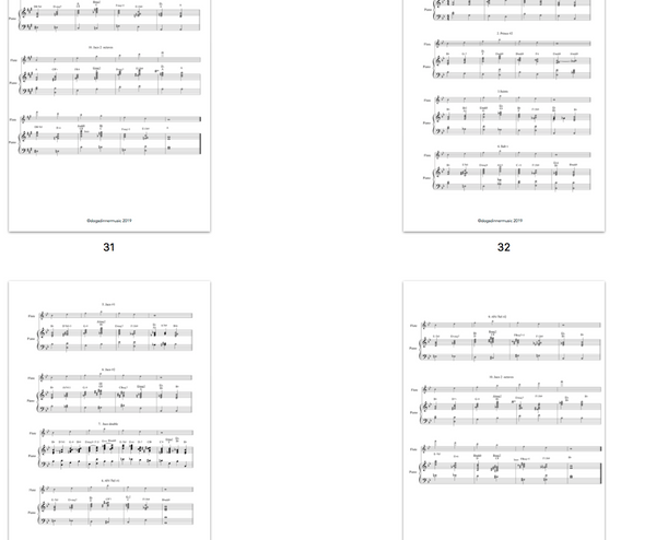 Harmonised major Arpeggios - Jazzduets examples