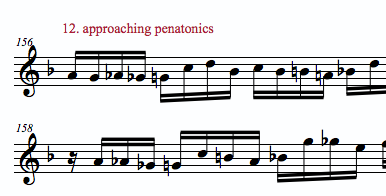 10 ideas to improvise on a minor 7th vamp- approaching pentatonics