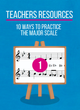 Teachers Resources #1  Ten ways to Practice the major scale (with your student)