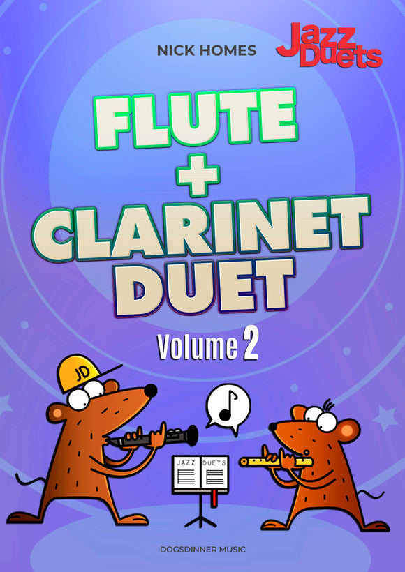 Flute+ Clarinet Duets volume 2- Instant PDF download